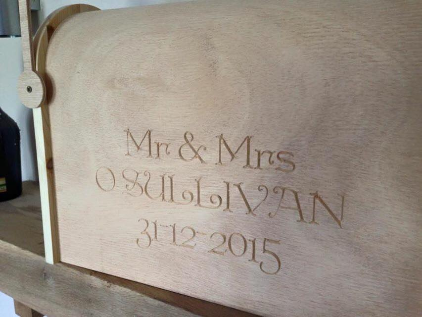 personalised wedding letterbox