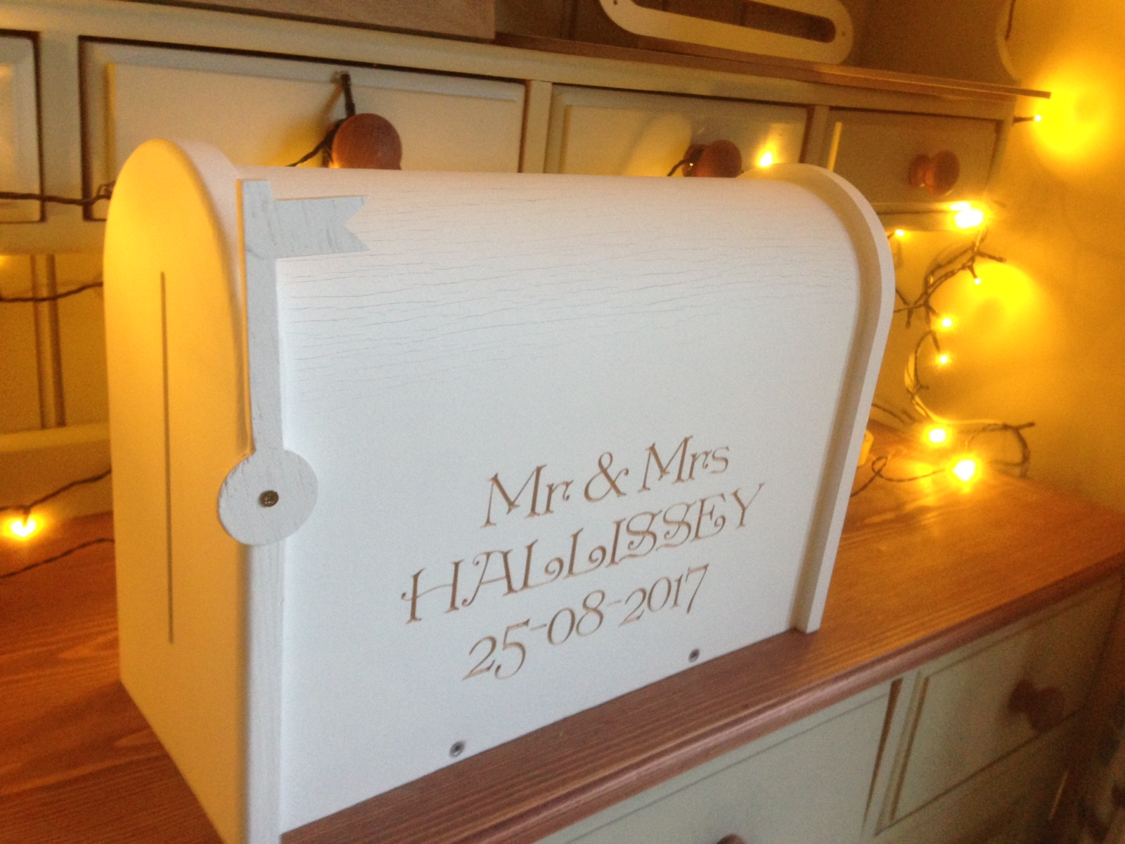 Personalised Painted Wedding Letterbox Kerry Signature Furniture