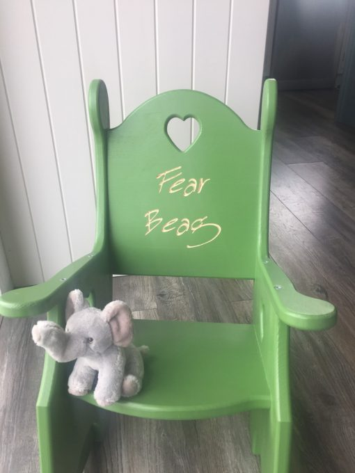 painted childrens rocking chair